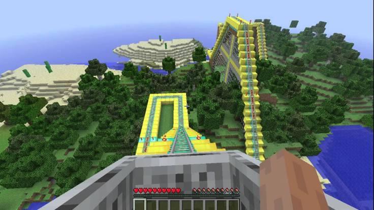 minecraft rollercoaster
